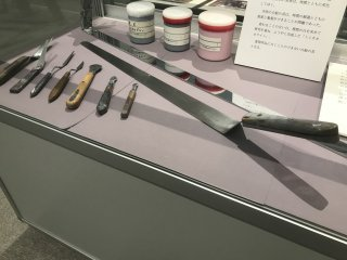 There are even tools on display that were used in the creation of the artworks