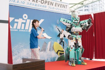 連「新幹線變形機器人Shinkalion」的主角都現身開幕典禮!