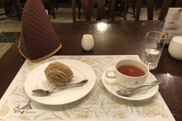 Mont Blanc and Tea at Kurinoki Terrace