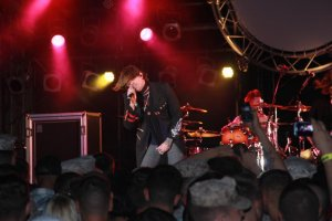 Hinder is one of many musicals acts that have appeared at festivals on U.S. military bases on Okinawa