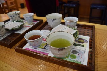 Samples of tea are offered so you can try before you buy