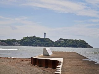 A view of Enoshima from the beach