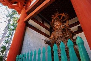 Fierce spirits guard the gate
