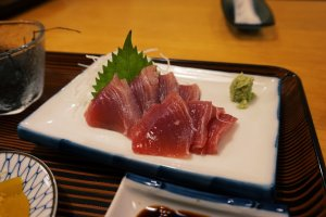 Fresh sashimi is a must!
