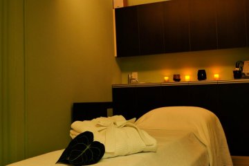 <p>Therapy room at formachika Beauty Therapy</p>
