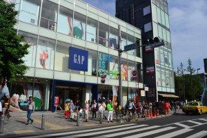 Big GAP store greets visitors immediately