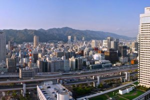Panoramic view of Mount Maya and Kobe City