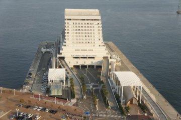 Kobe Meriken Park Oriental Hotel seen from the observatory