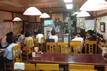Great vibe in this little ramen shop in Yotsuya Tokyo