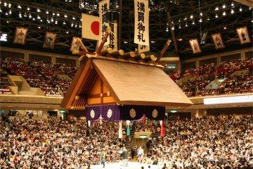 Tokyo's Ryogoku Kokugikan, the spiritual home of sumo