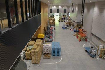 Observation platform over the wholesale area above the Fruit & Vegetables Market