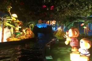 A river boat ride with the Sanrio characters