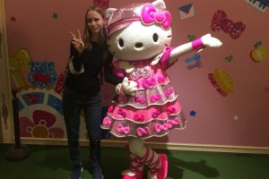 Hanging out with Hello Kitty