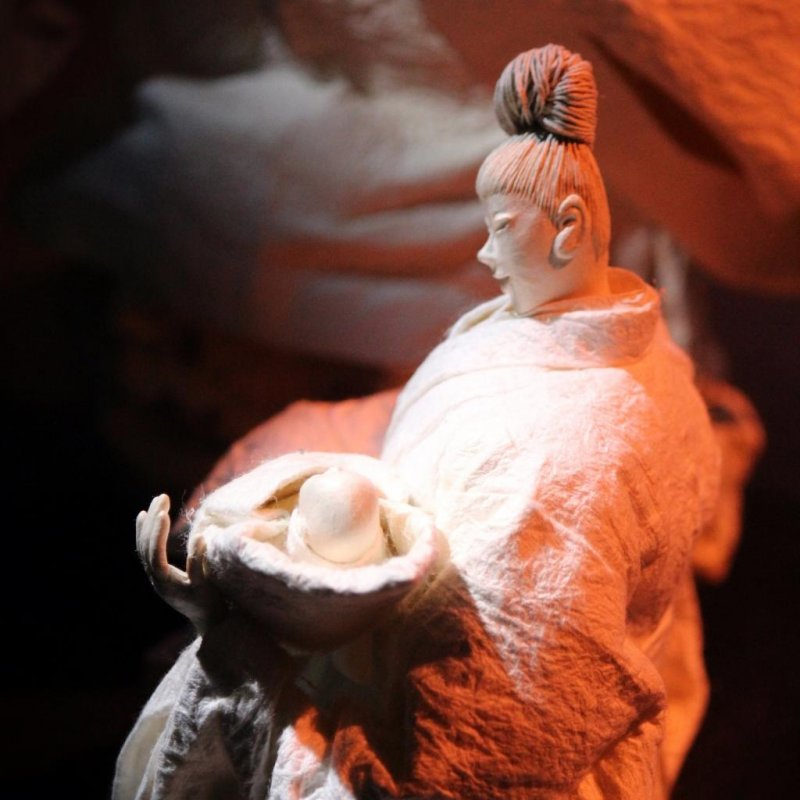 The free exhibitions tell of Kukai's life from his birth as Mao Saeki in 774 to his death.  Also known as Kobo Daishi, he was a monk, a poet, a calligrapher, a civil servant, a monk and the founder of Shingon Buddhism.