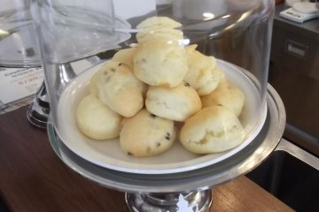 <p>The cafe&#39;s home-baked scones</p>