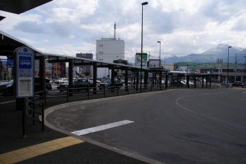 Bus terminal right outside Furano Station