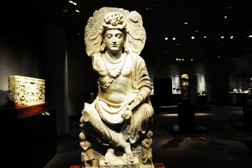 Crossed-legged Bodhisattva from Pakistan from the 2nd or third century.
