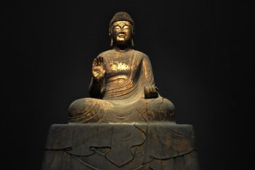 Japanese Buddhist sculpture from the 8th century.