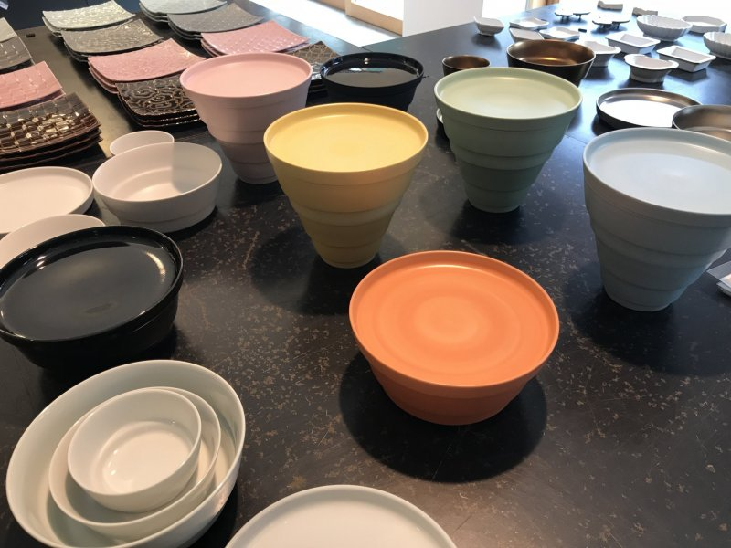 Pottery in all colors of the rainbow exists here