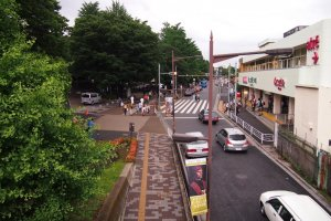 On one end of the bridge is the relaxing life full of greenery at Ueno.