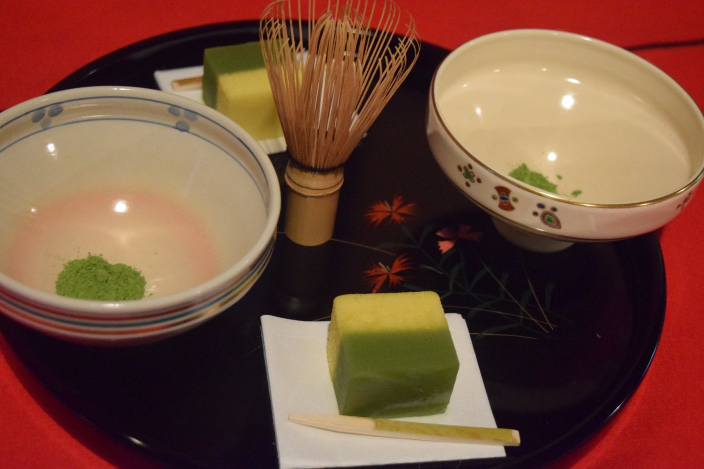 From the beginner\'s workshop, where you could learn how to whisk your own cup of matcha