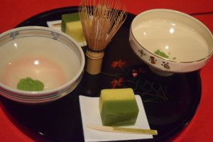 From the beginner's workshop, where you could learn how to whisk your own cup of matcha