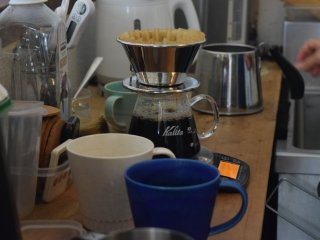 Coffee is treated like a science here, in order to brew the perfect up