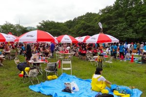 Festival area at Warrior Dash - Sagamiko, Japan