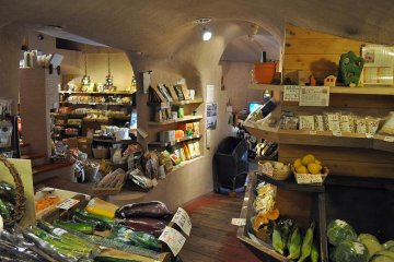The interior of With Everyone for the Earth takes you back to a quaint countryside feel
