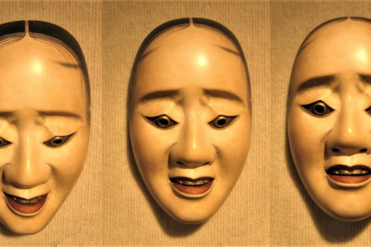 Different angles, different expressions, same mask