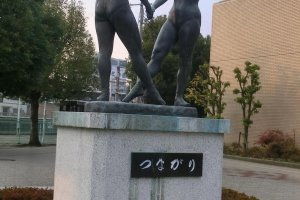 statue in front of JR Yamato Takada station