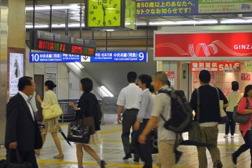 Traffic in the station