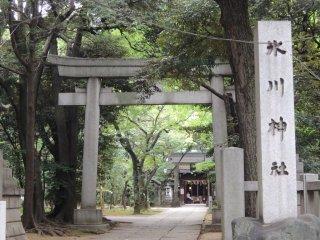 Main entrance of Hikawa Shrine