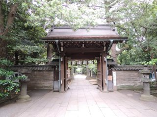 The pathway from the shrine