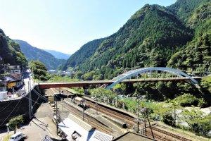 Overlooking Oboke station in Tokushima