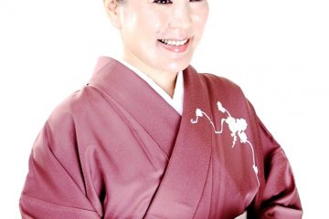 Mrs Tamura the Okami or Managing Director of this historic confectionery maker in Kyoto