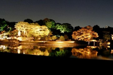 Rikujien Park is lit up in the evenings in Autumn and less than 10 min walk from Kamagome Metro and JR Stations