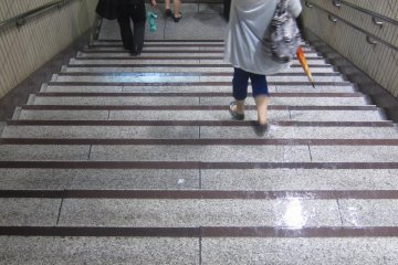 Stairs down to the station