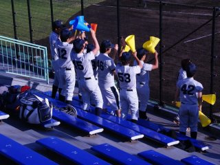 The cheering section