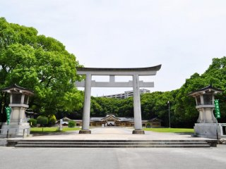 A view from the front of the shrine.