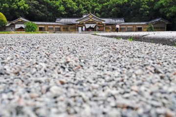A lovely stone path leads up to the shrine.
