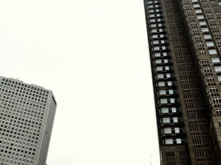 The park is adjacent to many skyscrapers in Shinjuku