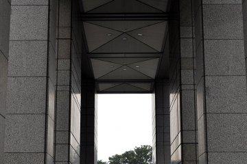 Park access through the Tokyo Metropolitain Government Center