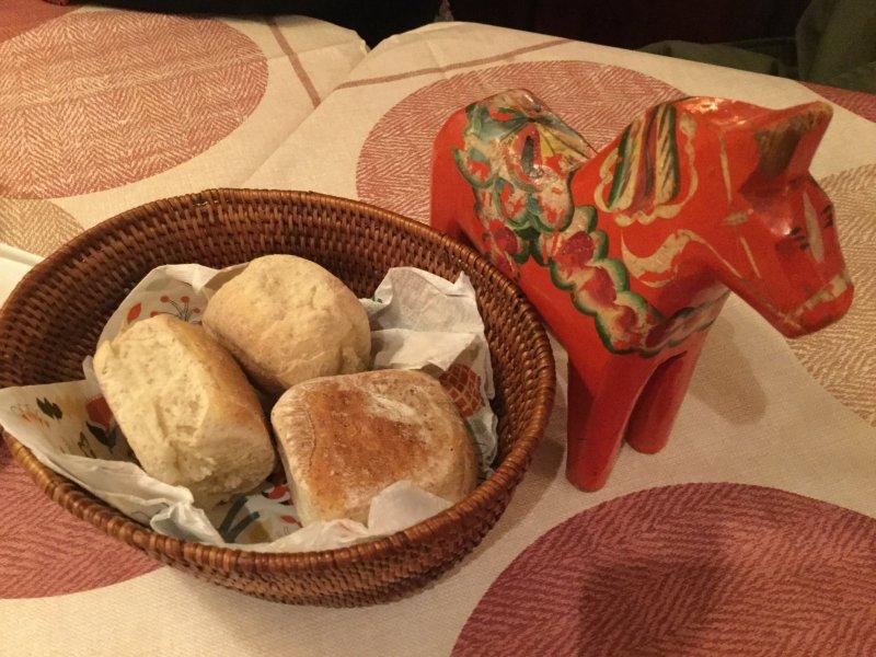 Lilla Dalarna's hearty homemade bread.