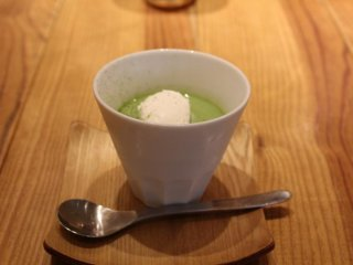 Bánh pudding trà xanh
