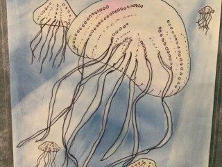 ศิลปะของเด็กๆ จากแรงบันดาลใจของการเยี่ยมชมพิพิธภัณฑ์ ภาพแมงกะพรุนวาดโดยเด็กอายุ 10 ขวบ