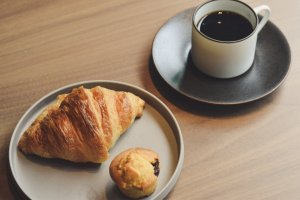 Kabuki coffee and morning pastries
