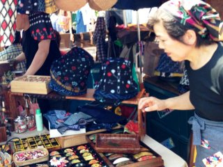 Every product is unique and handmade at the Chion-ji temple Artisan Markets on the 15th of each month