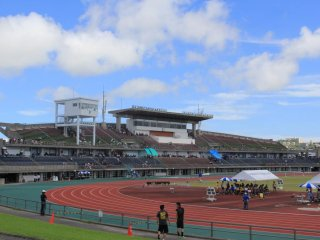 Okinawa Athletic Stadium is a general purpose stadium that can be confirgured for a variety of events