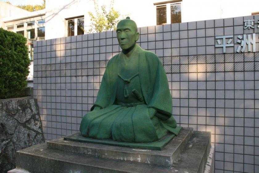 Bức tượng Hosoi Heishu.